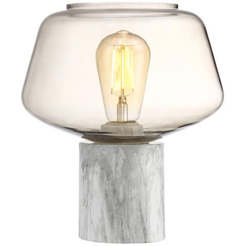 Add a contemporary touch to any room with this marble like accent table lamp