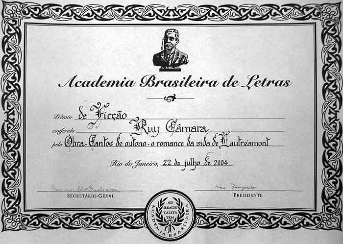 PRÊMIO DA ACADEMIA BRASILEIRA DE LETRAS 2004