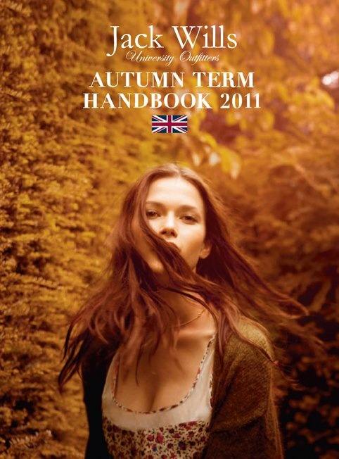 Getting windswept for #JackWills Autumn 2011 handbook