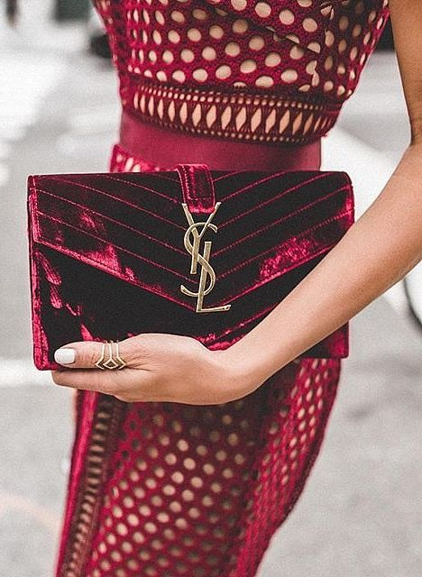 Try wine for Fall! A dress or clutch will make a rich impact