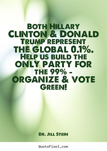 I'm gonna vote #Hillary to make damn sure Trump never gets to choose Curly and Moe for U.S. Supreme Court seats, but you can be damn sure I'm gonna actively join the Green Party too.