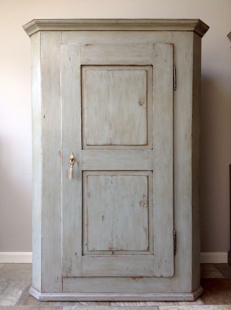 *NOW SOLD* Grey Painted Antique French Housekeepers Armoire Wardrobe Linen Larder  Cupboard Annie Sloan - 93 Best Clyne & Co. Vintage & Antique Furniture Images On