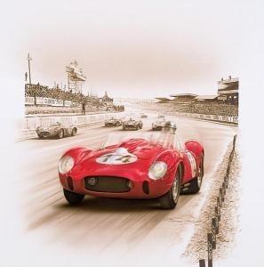 """Hommage a Phil Hill"" Ferrari 250 TR victorious at 24 Heures du Mans 1958 by Francois Bruere"