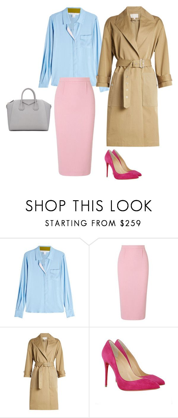 4 by asvetik on Polyvore featuring мода, Diane Von Furstenberg, Vanessa Bruno, Roland Mouret, Christian Louboutin and Givenchy