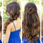 Hairstyles Ideas Trends Cute And Four Different Layered Wavy Easy For Long Hair Twisted Ponytail Fishtails Waterfall Braid The Asymmetrical Chignon pretty hairstyles for long hair that women should try