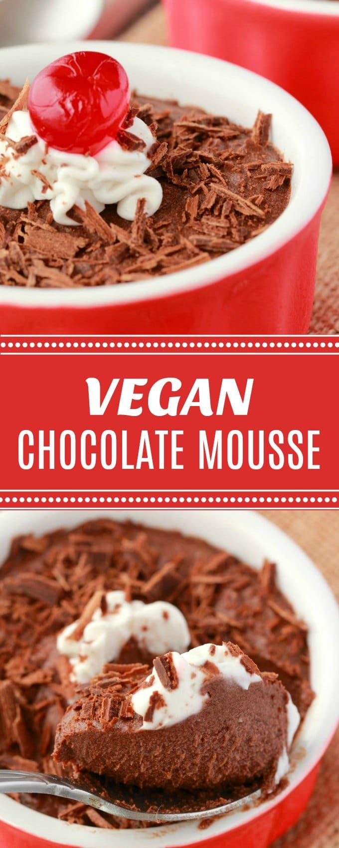 Smooth date-sweetened vegan chocolate mousse. This 3-ingredient mousse is light, fluffy and super easy to make! Gluten-Free. | lovingitvegan.com
