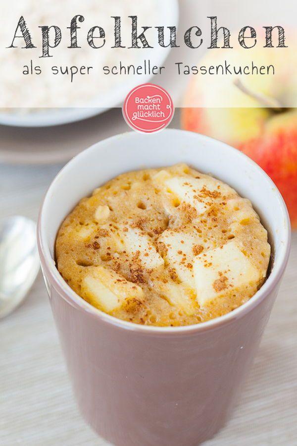 Apfel-Zimt-Tassenkuchen – Backen macht glücklich