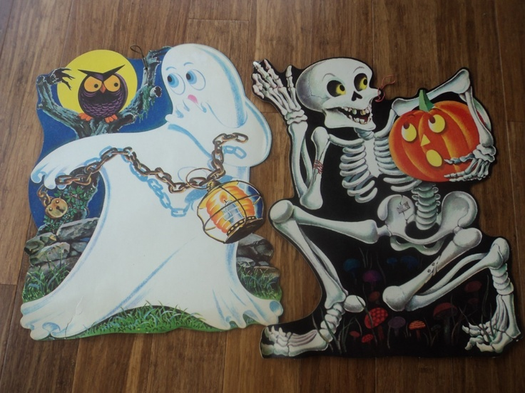 Vintage Halloween Window Tape Ups I Have Both Of These From My Childhood Happy