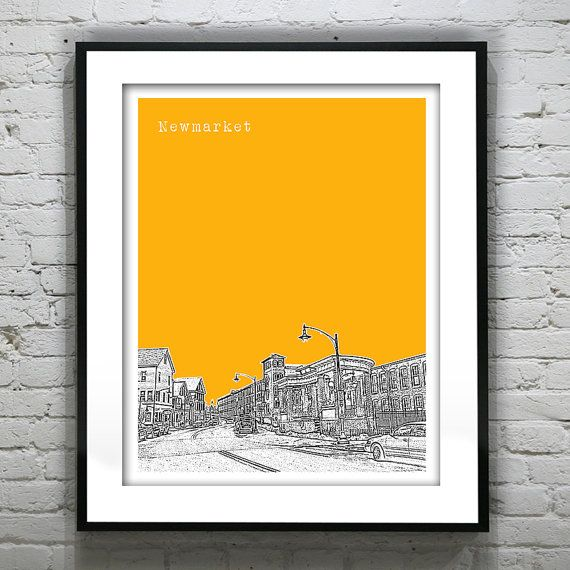 Newmarket New Hampshire Poster Print Art by ...