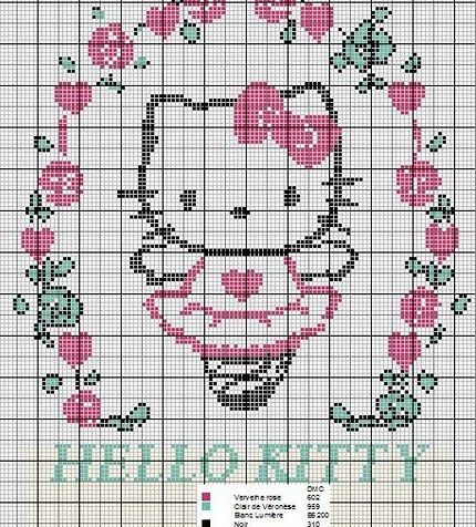 12 best bordado en punto de cruz images on Pinterest  Hello kitty