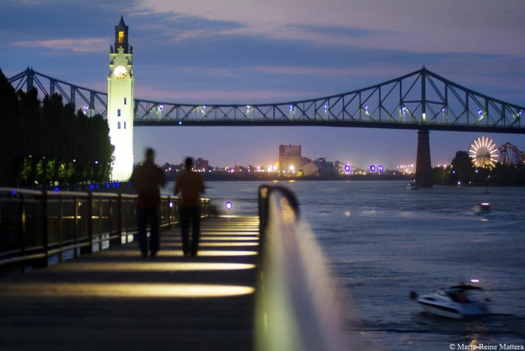 Clock tower & Jacques Cartier Bridge