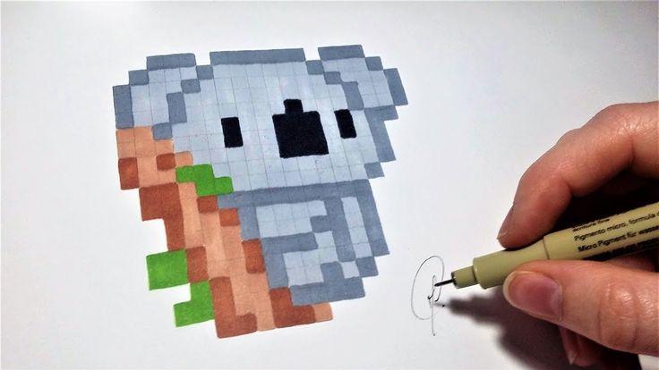 pixel art facile | Dessin Koala - Pixel Art (Facile) - YouTube