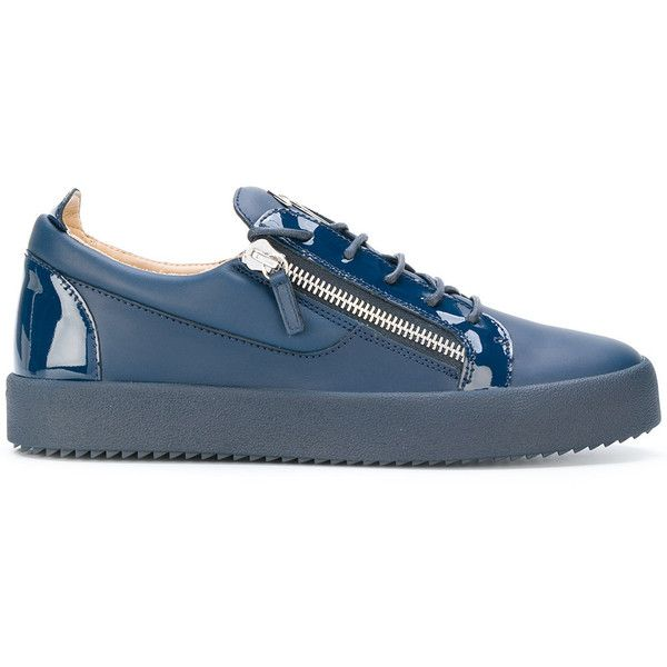 Giuseppe Zanotti Design Frankie sneakers ($576) ❤ liked on Polyvore featuring men's fashion, men's shoes, men's sneakers, blue, mens blue sneakers, mens sport shoes, giuseppe zanotti mens shoes, mens flat shoes and giuseppe zanotti mens sneakers