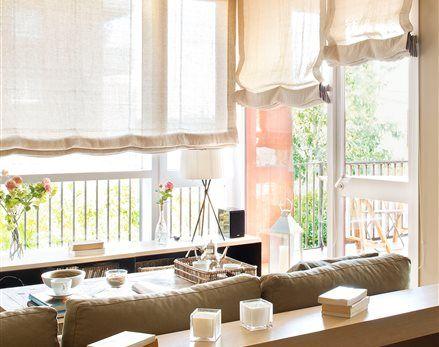 Elige las cortinas: ¿caídas, estores o screens?