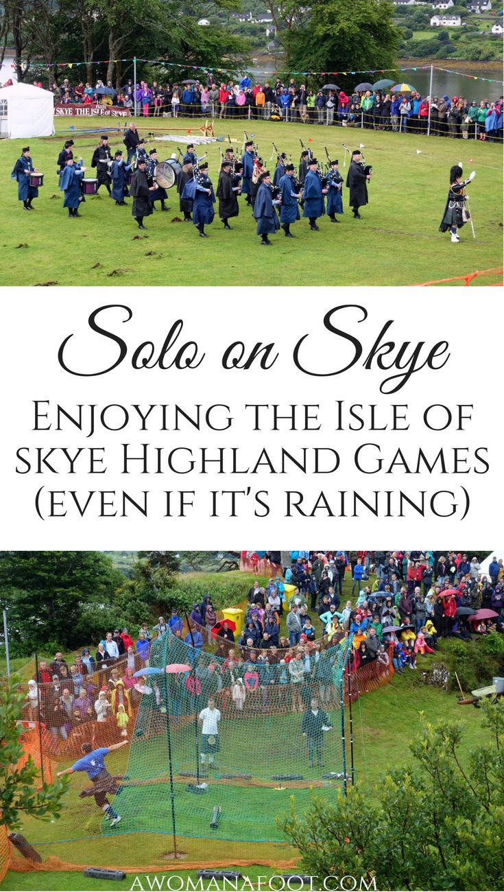 Solo on Skye: Watching the Highland Games in Scotland is a real treat! Check it out!  | solo travel in Scotland | Scottish heritage | Scottish Highlands | Isle of Skye | Portree | Summer in Scotland | What to see on Skye | awomanafoot.com
