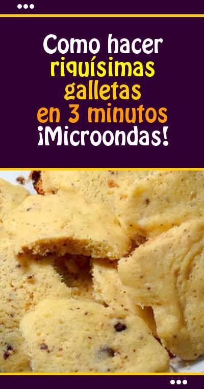 Como hacer riquísimas galletas en 3 minutos. ¡Microondas! #galletas #rapido #sinhorno #microondas #receta #video