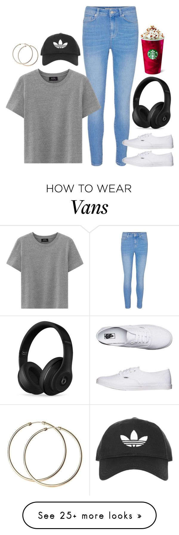 """""""Basic"""" by forevercrazyfashiondivas on Polyvore featuring Vans, Beats by Dr. Dre and Topshop"""