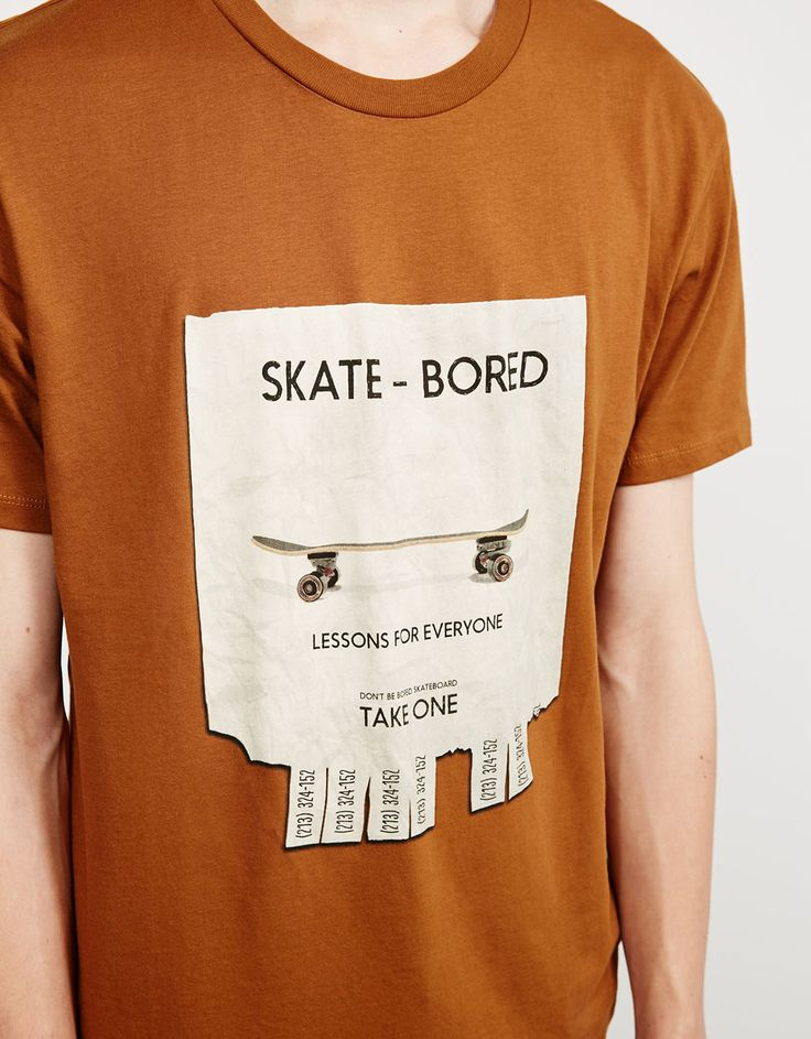 T-shirt estampada - T-shirts - Bershka Portugal