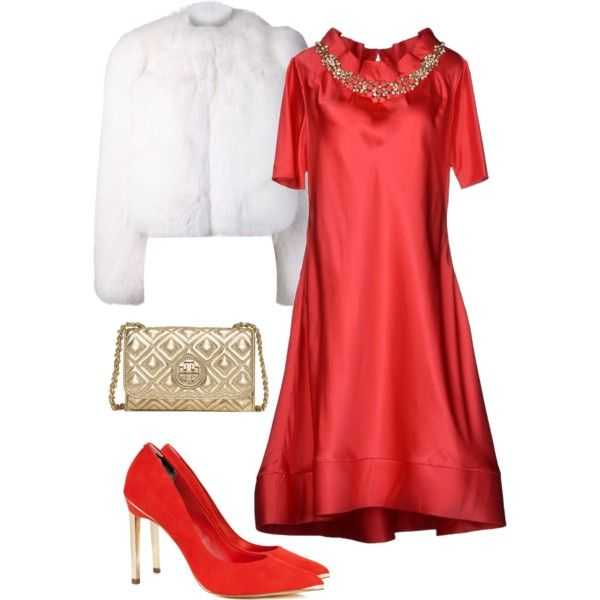A fashion look from November 2014 featuring Moschino dresses, Yves Saint Laurent jackets and Ted Baker pumps. Browse and shop related looks.