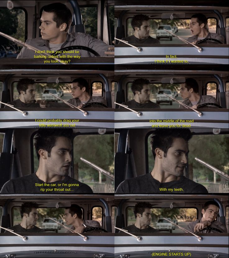 I love every scene with Derek and Stiles. They write it so tight, there's nothing extra. It's just pure funny with some expert timing.