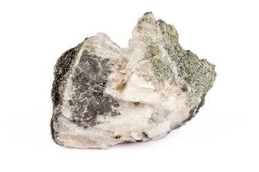 Камень хлорит на кварците коллекционный