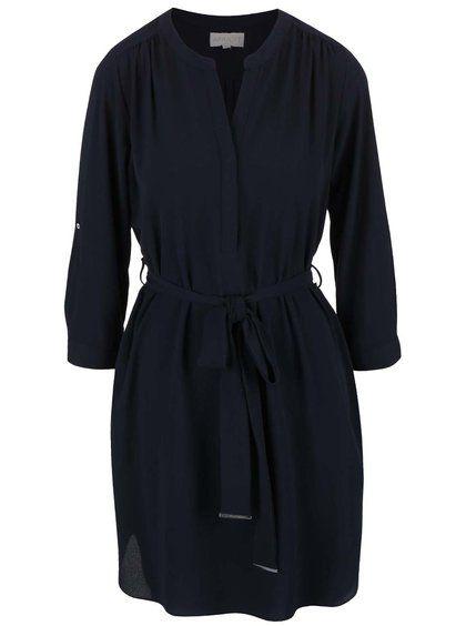 Tmavě modré šaty s páskem Apricot