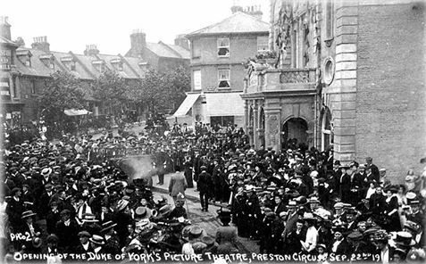 Opening of Duke of York picture house. 1910
