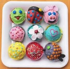 Cute children's cupcakes for a birthday party #festive #fun #cupcakes #party