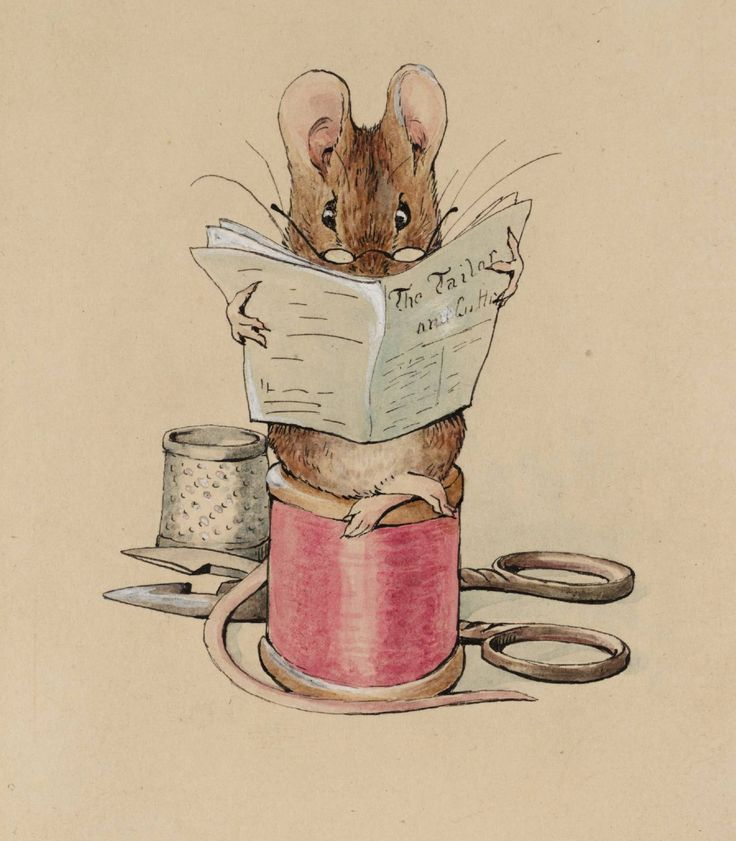 Beatrix Potter, The Tailor of Gloucester Frontispiece: The Tailor Mouse c.1902