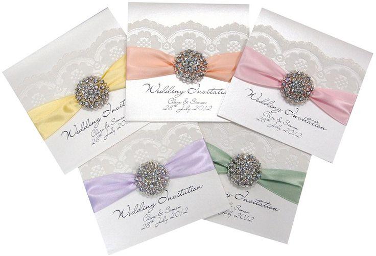 opulence pastels wedding invitations