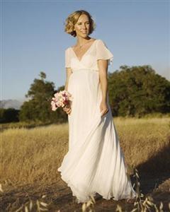 short pregnant wedding dresses