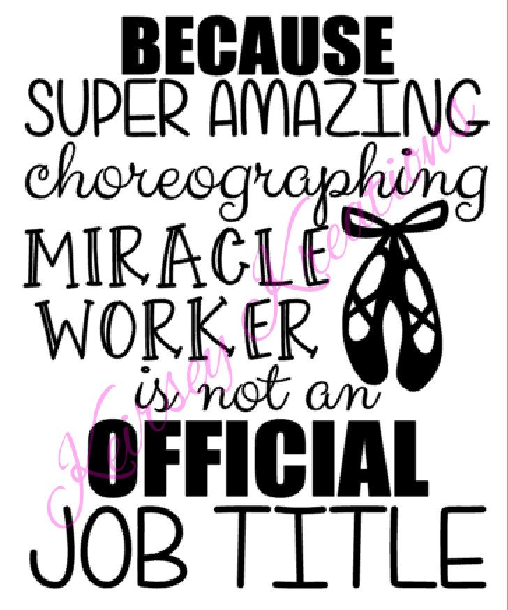 Birthday Quote For Teacher: Dance Teacher SVG Cutting File By KeirseyKreations2013 On