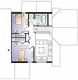 Elderberry with bedrooms & bathroom upstairs  http://www.evergreenconcepts.ca/models/elderberry.htm