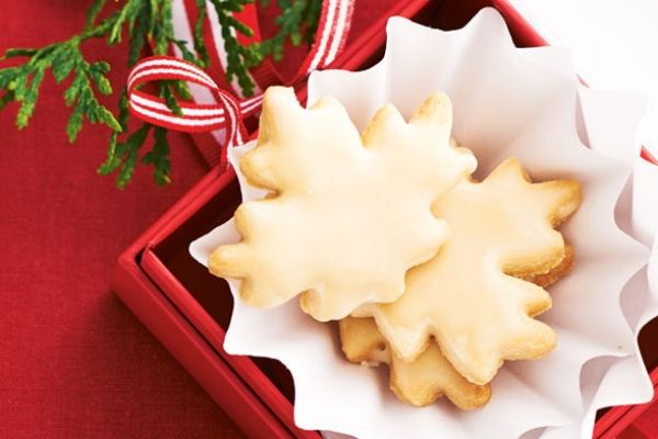 Our maple shortbread cookies are topped with a sweet, syrupy glaze. Merry Christmas! Photo by Jeff Coulson.