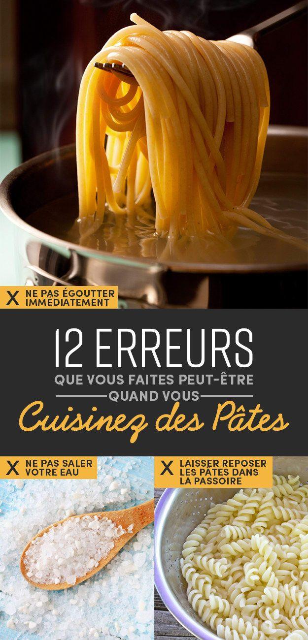 12 erreurs que vous faites peut-être quand vous cuisinez des pâtes