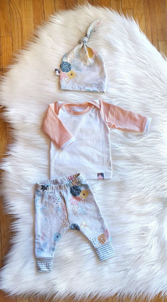 Welcome Spring Coming Home Outfit Baby Girl 3 by brambleandbough
