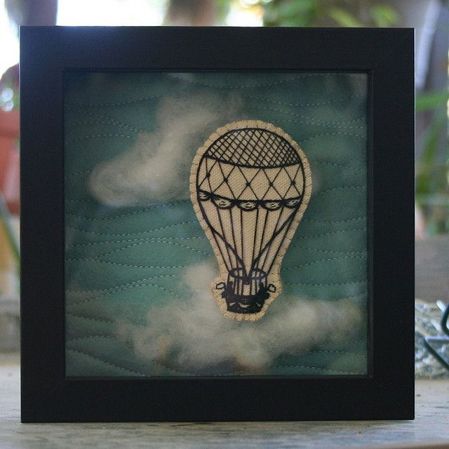 Victorian Balloon Shadow Box