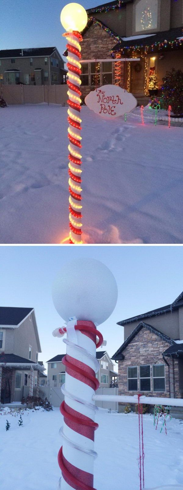 DIY North Pole Sign.