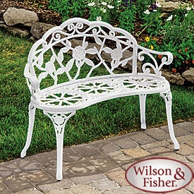 Wilson Amp Fisher 174 White Rose Cast Iron Bench Patio