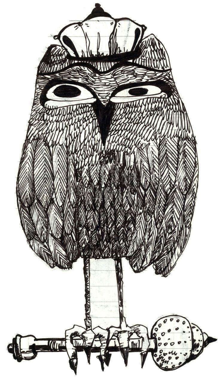 own сова  Царь сова линер бумага сова