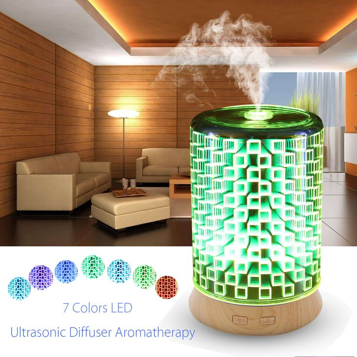 3D Effect 7 Color Changing Essential Oil Aroma Diffuser Ultrasonic Humidifier Aromatherapy