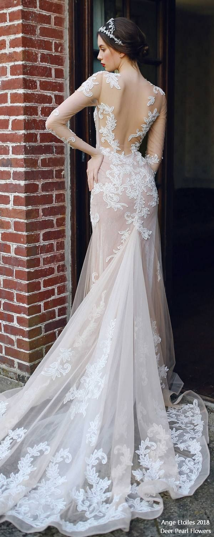 ALMA two piece long sleeves wedding dresses 3 ❤️ http://www.deerpearlflowers.com/ange-etoiles-2018-wedding-dresses/ #bridaldress #dress #weddingdress