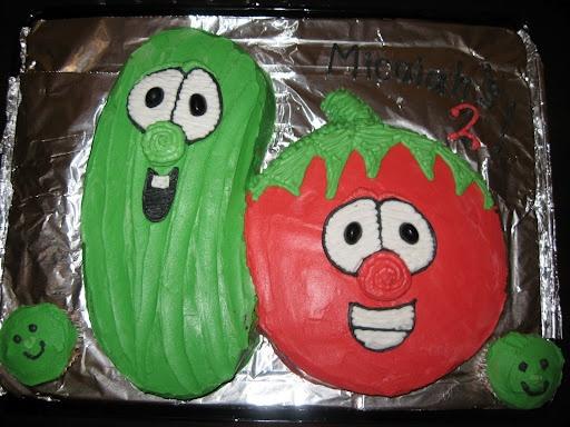 Veggie Tales: Cakes Ideas, Tales Birthday, Tales Cakes, Veggies Tales, 3Rd Birthday, Parties Ideas, 2Nd Birthday, Birthday Cakes, Birthday Ideas