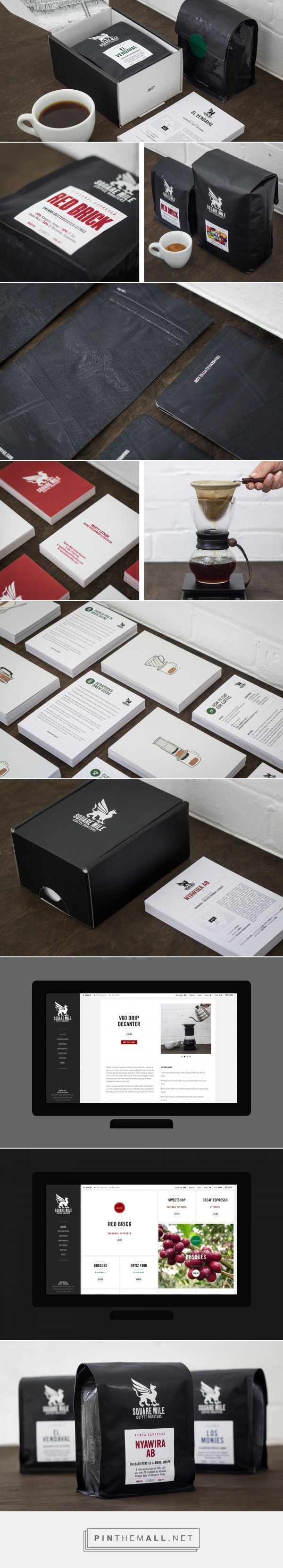 Square Mile Coffee Roasters — The Dieline - Branding & Packaging - created via http://pinthemall.net