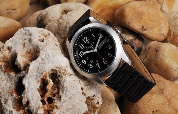 Armbandsur Eyki - Army Natoband (svart) #eyki #kimio #sportklocka #sportklockor #armbandsur #klocka #klockor #herrklocka #herrklockor #runns #watch #watches #nato #natoband #overfly