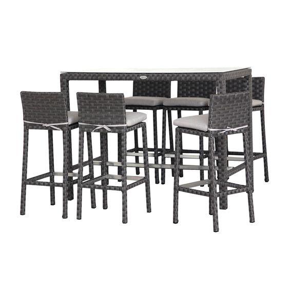 salon de jardin haut r sine tress e providence noir 6 8 places eminza 350 meubles. Black Bedroom Furniture Sets. Home Design Ideas