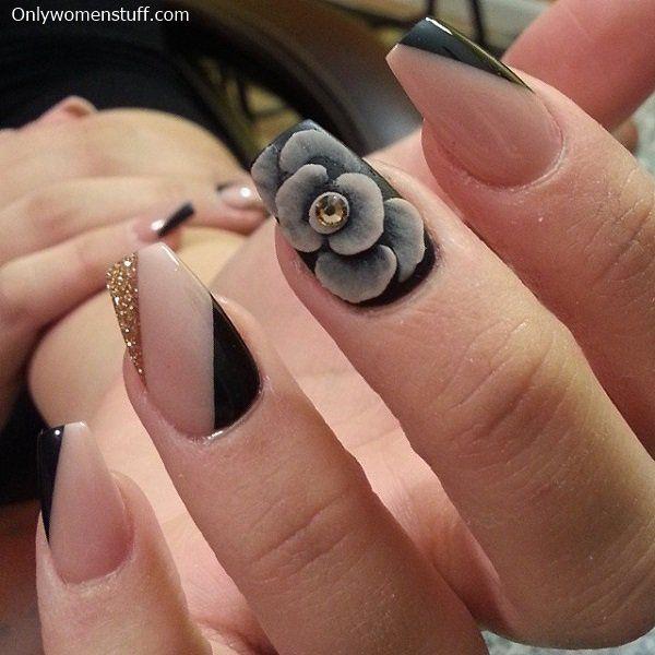 Best 25 cute nail designs ideas on pinterest - Nail art nude ...
