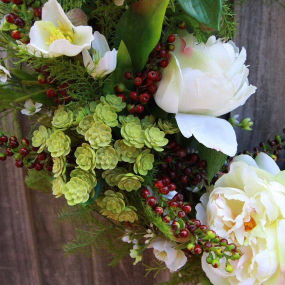 Floral Wreath Christmas Wreath Door Wreath by TheWreathCompanyAU