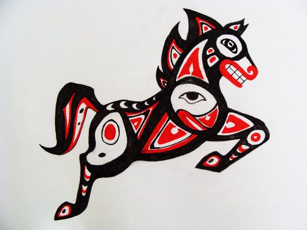 Haida Tribal Horse by darkmoonwolf21