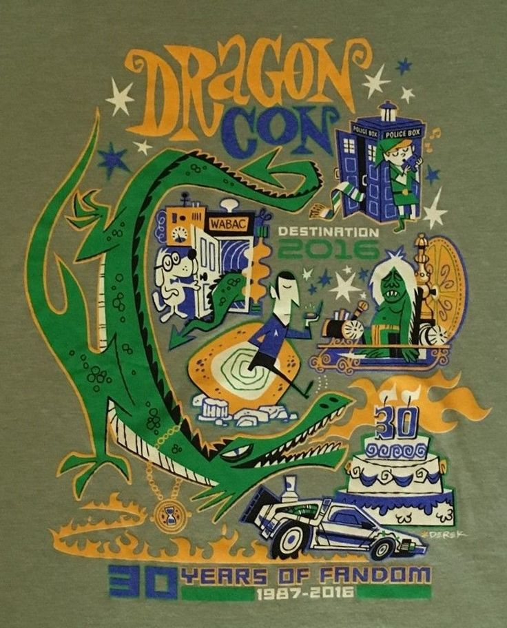 Dragon Con 2016 Volunteer T-Shirt Only Given to Volunteers that Worked the Show #Tultex #GraphicTee